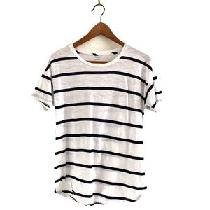 Madewell Short Sleeve Tee Top Striped Crew Neck
